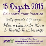 Countdown to 2015: Celebrate Your Practice!