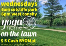 Yoga on the Lawn — $5 Community Classes at Sutcliffe Park and West Conshy