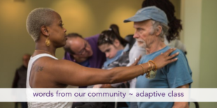 words from our community ~ adaptive yoga class